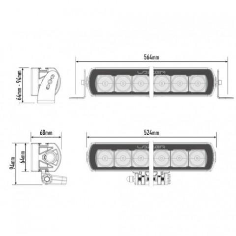 Купити Світлодіодна балка Lazer ST12 Evolution 0012-EVO-B