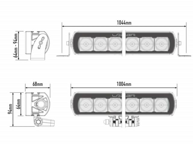 Купить Светодиодная балка Lazerlamps T24 Evolution 0024-EVO-B