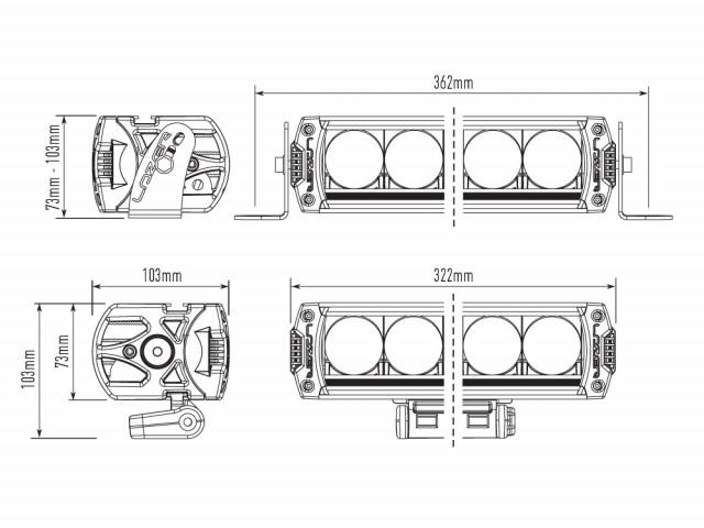 Купить Светодиодная балка Lazerlamps Triple-R 850 Standard 00R6-Std-B