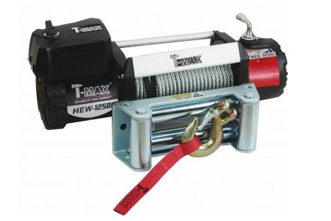 Купить Лебедка автомобильная T-Max HEW-12500 - 12 вольт / 5665 кг - 12500 lb X Power