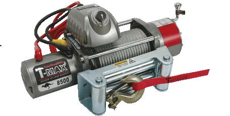 Купить Лебедка электрическая T-Max EW-8500 - 12 вольт / 3850 кг - 8500 lb OUTBACK