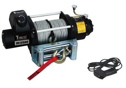 Купить Лебедка электрическая T-Max FEW-13500 - 24 вольт / 6118 кг - 13500 lb Fire Work series