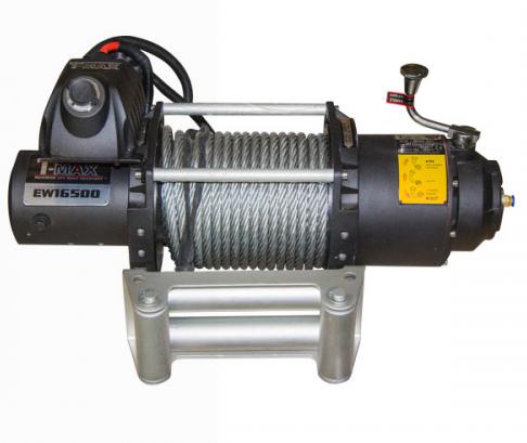 Купить Лебедка автомобильная T-Max FEW-16500 - 12 вольт / 7480 кг - 16500 lb Fire Work series