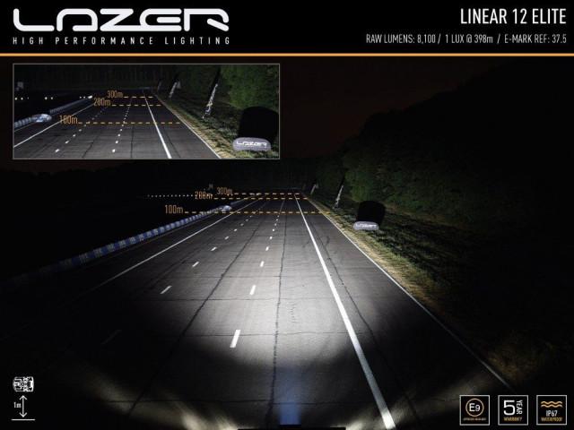 Купить Светодиодная балка Lazerlamps Linear-12 Elite с габаритными огнями 0l12-pl-lnr
