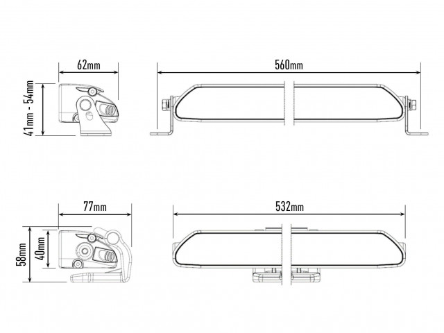 Купити Світлодіодна балка Lazerlamps Linear-18 Elite з габаритними вогнями 0l18-lnr-el