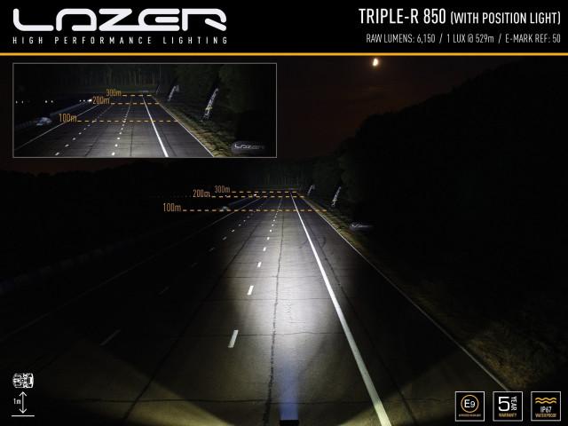 Купити Світлодіодна балка Lazerlamps TRIPLE-R 850 ELITE-3 00r6-pl-std