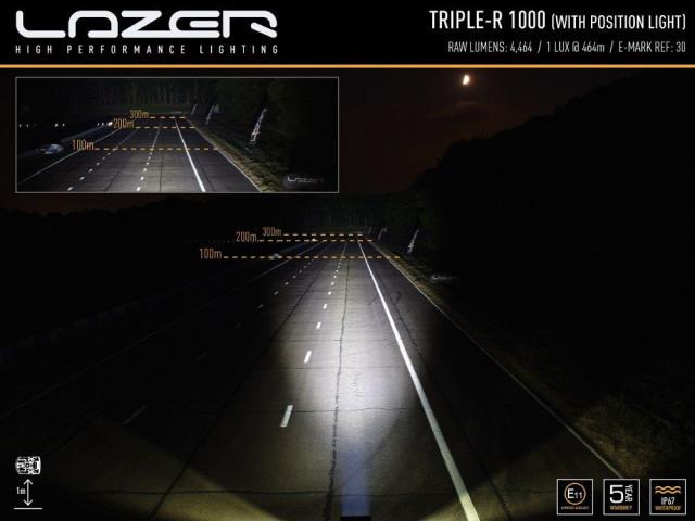 Купити Світлодіодна балка Lazer Triple-R 1000 LED з габаритними вогнями 00R8-PL-Std-B