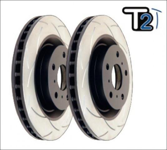 Купить Усиленный вентилируемый задний тормозной диск T2 SLOT для Porsche Macan 2847S