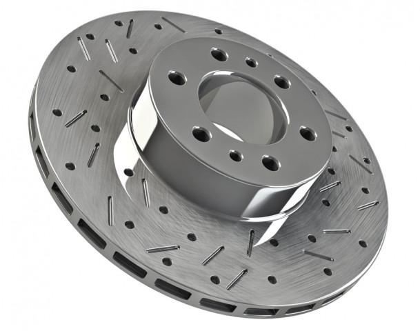 Купити Гальмівні диски передні на Toyota Land Сruiser 200 з насічками від Terrain Tamer