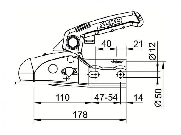 Купить Сцепное устройство AL-KO AK 161с Soft Dock с вставками 35/45/50мм