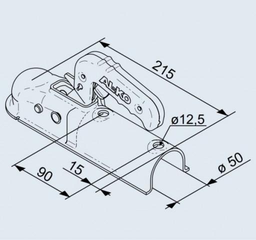 Купити Замковий зчіпний пристрій AL-KO AK 7 на кругле дишло 50 мм