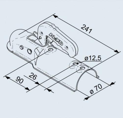 Купить Замковое сцепное устройство AL-KO AK 7 на круглое дышло 70 мм