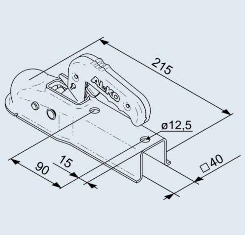 Купить Замковое сцепное устройство AL-KO AK 7 на квадратное дышло 40 мм