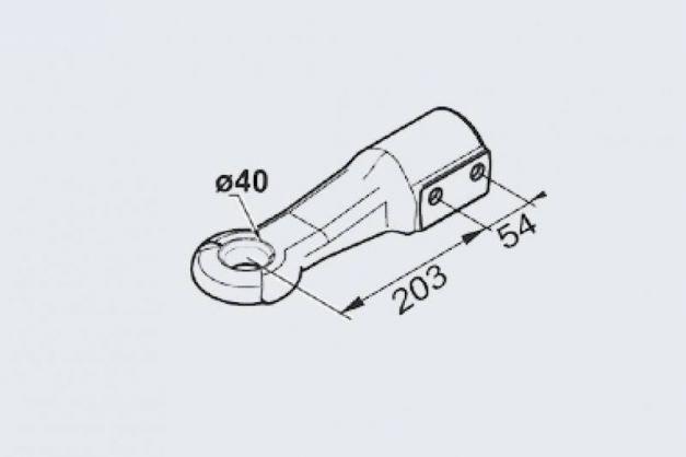 Купити Зчіпна буксировочна петля AL-KO DIN 60 мм 2500-3500кг
