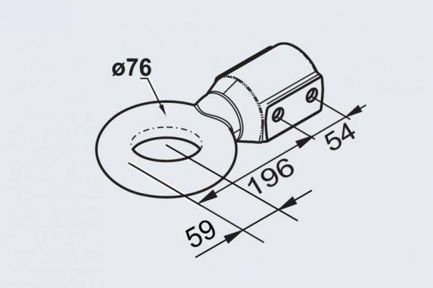 Купити Зчіпна буксировочная петля AL-KO NATO N76 60 мм