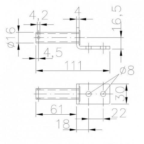 Купить Ответная часть к петле Winterhoff BSCHG 10-17-A