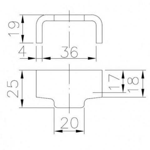 Купить Ответная часть бортовой защелки Winterhoff BVG 90-A