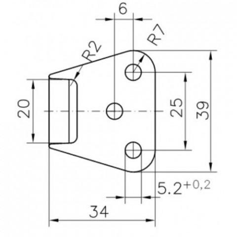 Купить Ответная часть бортовой защелки Winterhoff BVSG 60-A