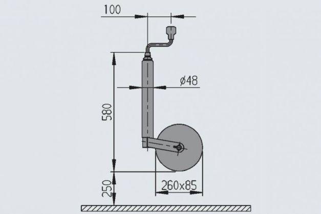 Купить Опорное колесо AL-KO 250 кг (пневмошина)
