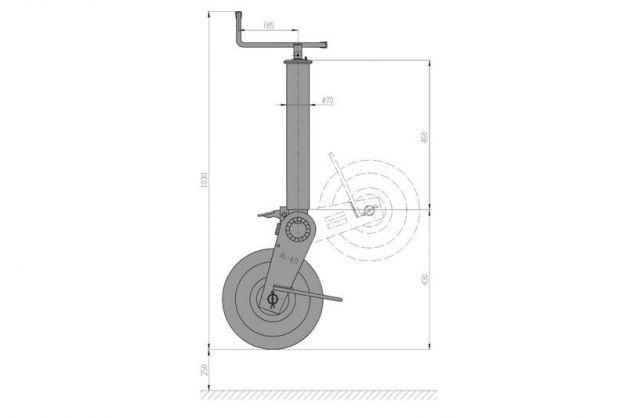 Купить Опорное колесо AL-KO 1500 кг