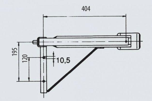 Купити Опора гвинтова AL-KO 600 кг (передні праві / задня ліва) 404 мм 457 мм