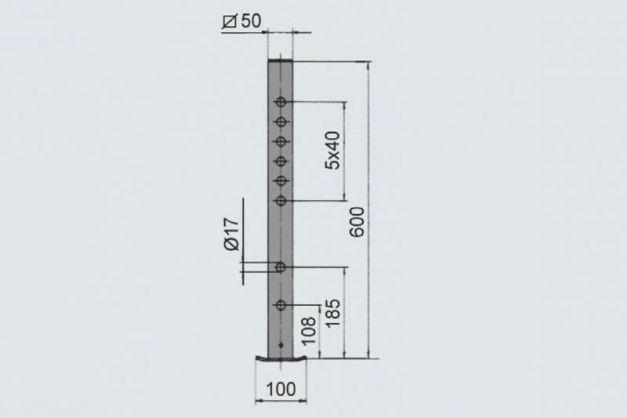 Купить Опорная стойка AL-KO 400 кг 50 мм