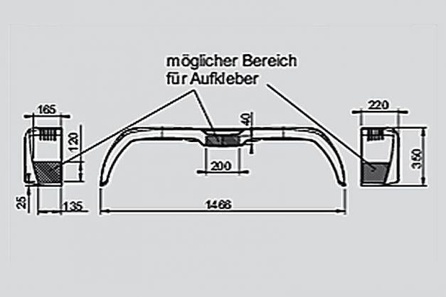 Купити Крило брудозахісні для причепа AL-KO 220х1466 мм Premium