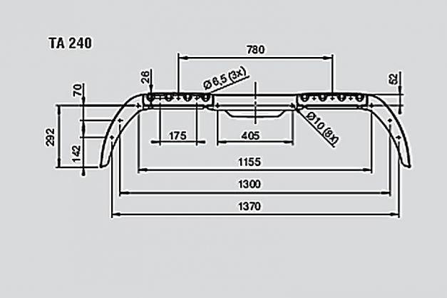 Купити Крило брудозахісні для причепа AL-KO 240х1466 мм Premium
