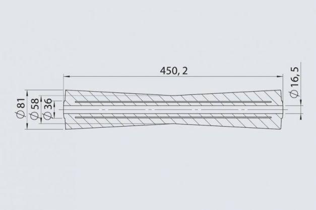 Купити Кільовий ролик RP-18 AL-KO 81х450 / 16.5 мм