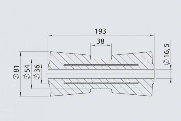 Купить Килевой ролик RP- 8 AL-KO 81х193 / 16,5 мм