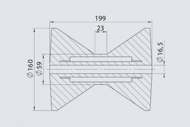 Купити Кільовий ролик AL-KO RP- 87 160х199 / 16.5 мм