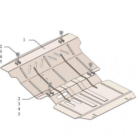 Купить Защита двигателя радиатора редуктора Kolchuga для Mitsubishi Pajero Sport 2015-