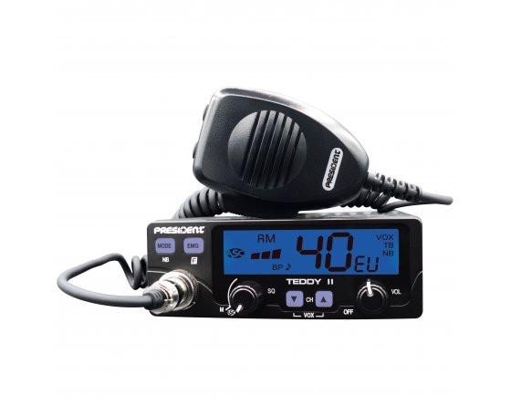Купити Автомобільна Сі-Бі Рація President Barry II AM/FM 12/24V TXPR022