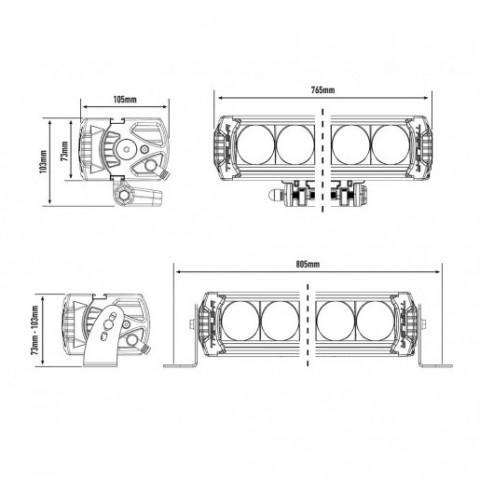 Купити Світлодіодна балка Lazer Triple-R 16 Elite 00R16-G2-EL-B