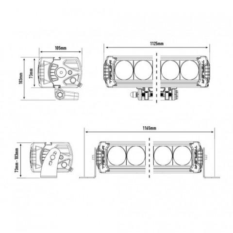 Купить Светодиодная балка Lazer Triple-R 24 Elite 00R24-G2-EL-B