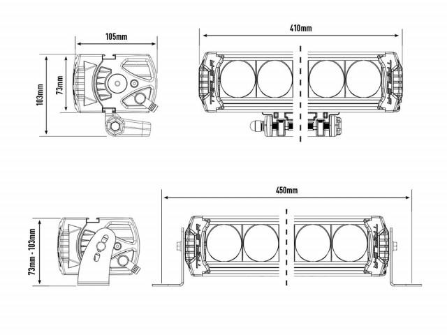 Купити Світлодіодна балка Lazer Triple-R 1000 GEN-2 White з габаритними вогнями 00R8-G2-W