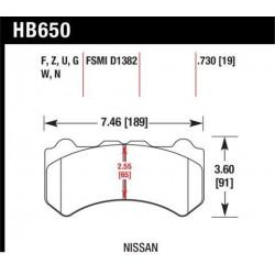 Купити Гальмівні колодки передні HAWK HPS 5.0 для Nissan GT-R 09-16 HB650B.730