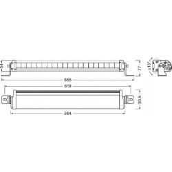 Купити Додаткова фара OSRAM FX500-SP LED Work Light (направлене світло) LEDDL104-SP
