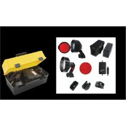 Купити Тактичний ліхтар LIGHTFORCE Nighthunter 110 для мисливської рушниці  з к-том для автономної роботи, галоген 30W NHPREDPACK