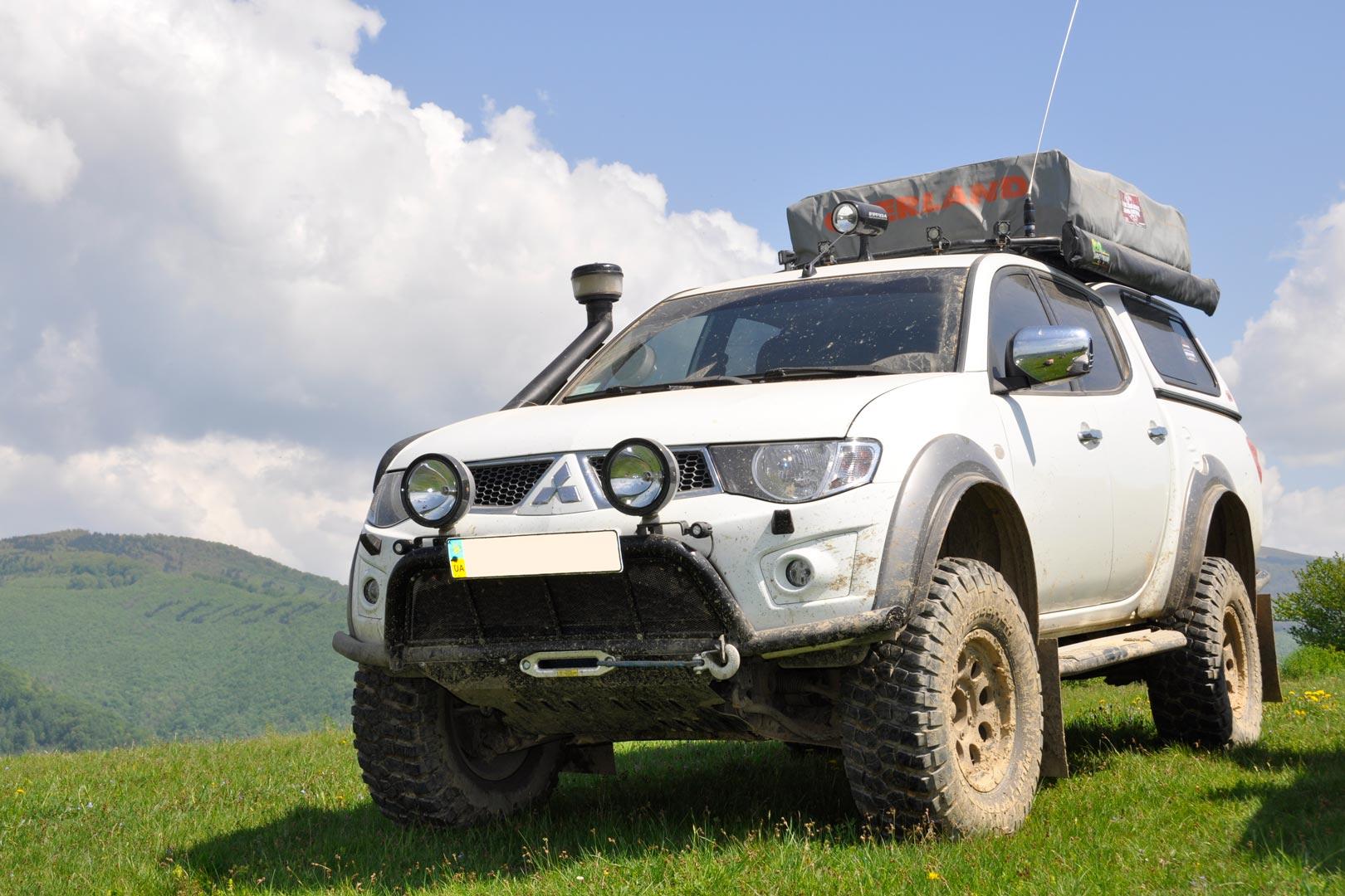 Тюнинг и экспедиция в горах на Mitsubishi L200 фото и детали